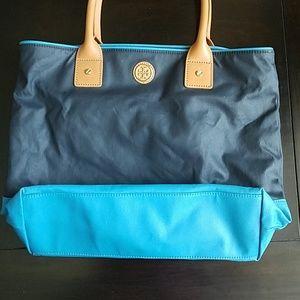 1cbf3fd1a6ad Tory Burch Bags - 👜Tory Burch Jaden Tote Navy Turquoise EUC